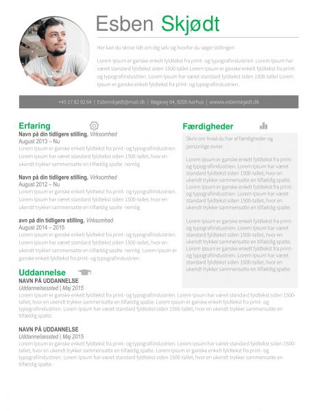 Jobansøgning og CV skabelon - Esben Skjødt