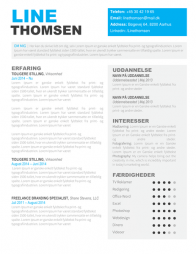 CV Skabelon Word - Line Thomsen