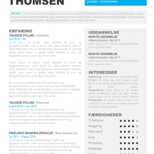 CV Skabelon Word - Line Thomsen