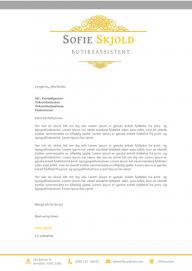 Jobansøgning skabelon - Sofie Skjold
