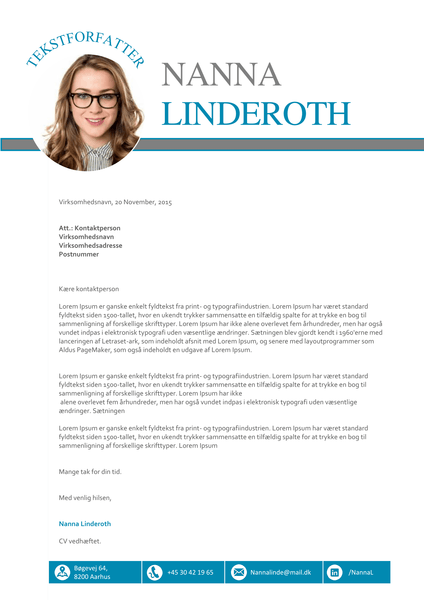 Jobansøgning skabelon - Nanna Linderoth