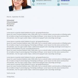 Jobansøgning skabelon 2017