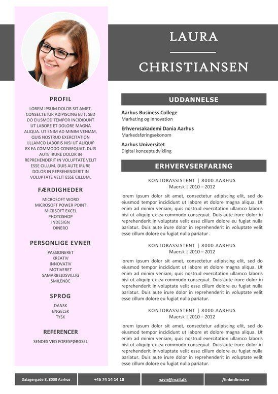 CV Skabelon Word
