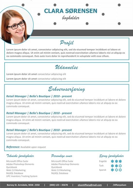 CV Skabelon Word 2017